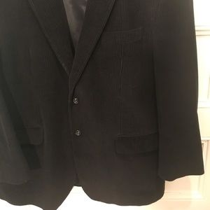 RALPH LAUREN Black Corduroy Sport Coat Black 46R